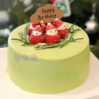 抹茶生日蛋糕ins简约风同城全国上海广州深圳杭州