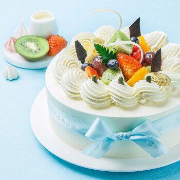 【罗森尼娜】缤果倾心-新鲜水果 动物奶油 巧克力 戚风蛋糕 长沙生日