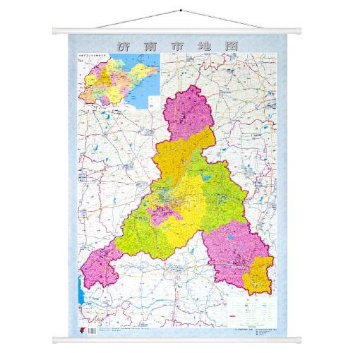 2019全新版济南市地图 更新莱芜区 约1.1*0.