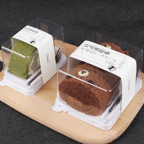 日式蛋糕卷梦龙瑞士虎皮卷透明包装盒毛巾卷慕斯切块