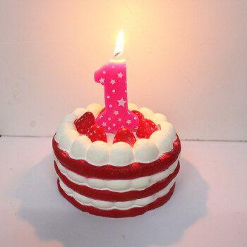 爱漫蒂 数字蜡烛五角星儿童生日蜡烛 彩色大蜡烛 生日装饰可爱蛋糕