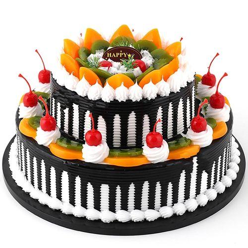 双层水果祝寿生日蛋糕预订定制 送父母长辈 上海广州郑州合肥全国