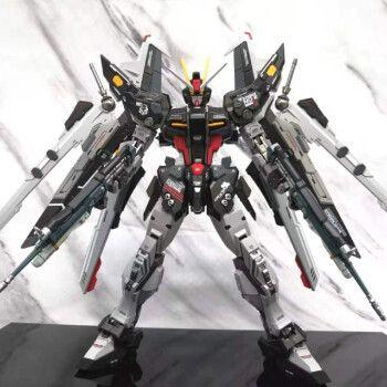 高达模型1/144hg强袭自由七剑00r独角兽国产大班高高手办玩具 漆黑