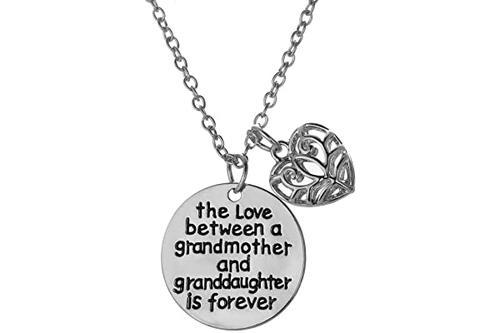 祖母与孙女的爱是永恒项链 - 家庭珠宝礼物 - 45.72 cm