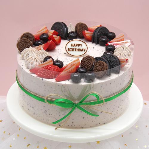 仿真蛋糕模型2020流行新款奶油奥利奥草莓水果塑胶生日假蛋糕样品