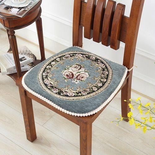 椅子垫子坐垫餐椅垫家用带绑带防滑餐桌凳子座垫夏可