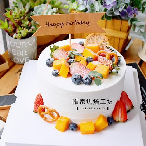 森系水果蛋糕一