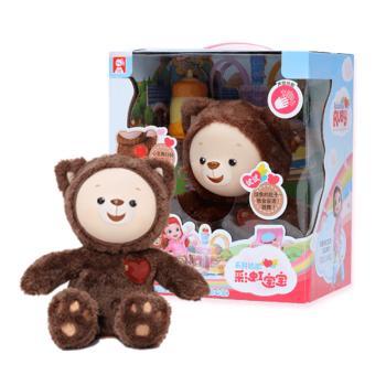 金宝贝早教玩具彩虹宝宝会跳舞的心宝泰迪熊电动玩具毛绒可爱玩偶