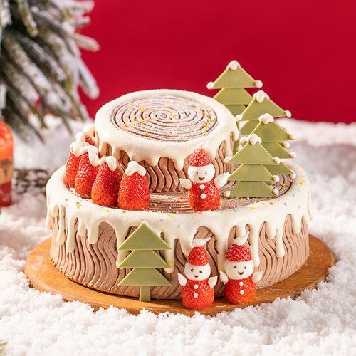 雪人树桩蛋糕(保定)