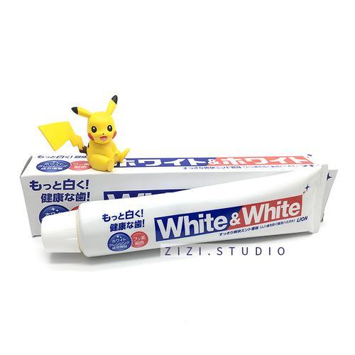 日本lion/狮王大白white牙膏特效美白去烟渍牙垢150g