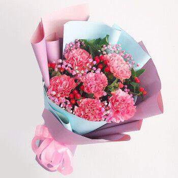 来一客母亲节康乃馨鲜花生日祝福鲜花速递礼盒花束送妈妈长辈母亲节