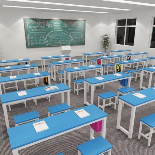 课桌椅辅导班教育长条写字桌学校初中生学生桌书桌书画桌带抽屉