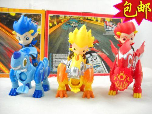 正版蓝猫龙骑团玩具 火驭水舞雷影炫迪传奇玩具龙骑套装 爆弹小子