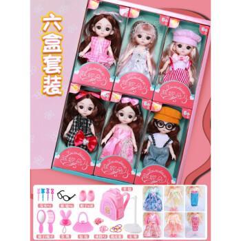 菲妮朵儿篱芭比比洋娃娃馨蕾芭比玩具套装圣诞礼盒装过家家精致迷你