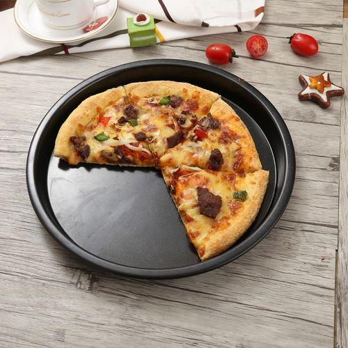 披萨盘烤盘家用不粘披萨盘饼底模具 6-12寸pizza烤盘
