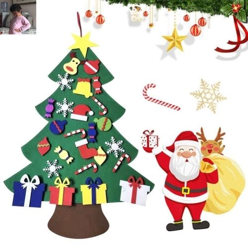 旺业恒儿童diy圣诞树五拼毛毡圣诞树现货直销手工毛毡