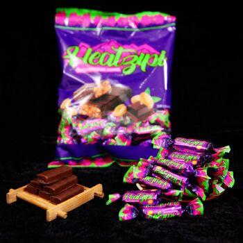 糖巧克力夹心糖果花生酥糖休闲零食喜糖年货 紫皮糖100g试吃【量少】