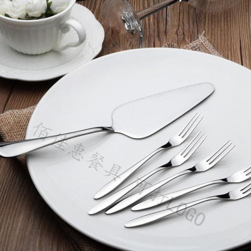 蛋糕叉子不锈钢水果叉子蛋糕铲刀叉套装月饼刀叉工厂