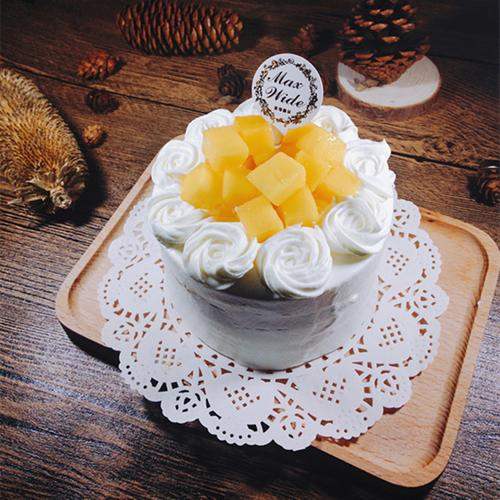 【芒果很忙】【4英寸迷你小蛋糕】新鲜芒果动物奶油