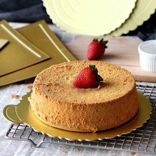 t金色生日蛋糕垫 慕斯纸托 圆形裱花垫糕点底托烘焙6寸8寸10张包