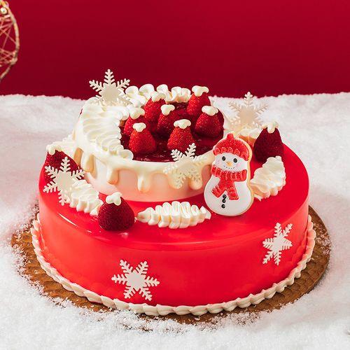 12月18日开始配送,限时特惠148元【圣诞软心莓莓蛋糕】鲜润草莓+法式