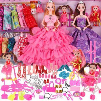 乖乖芭比娃娃公主一套装别墅儿童玩具女孩豪宅大礼盒洋娃娃城堡 4娃娃