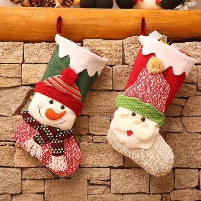 圣诞袜子礼物袋圣诞老人袜子圣诞节糖果礼品袋圣诞装饰品挂件袜子