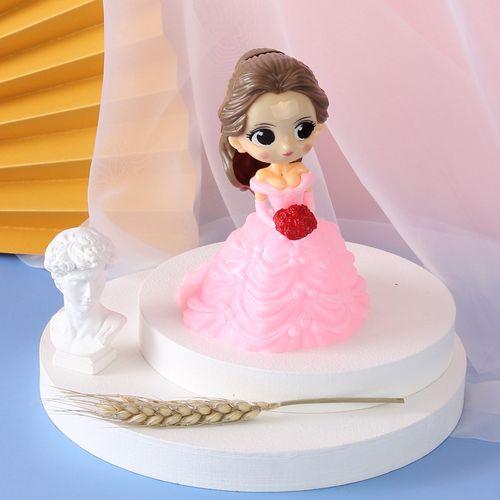 盲盒生日蛋糕装饰摆件蛋糕烘焙q版公主模型汽车摆件