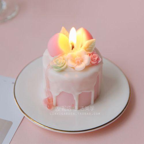 diy人间水蜜桃新年生日伴手礼物结婚少女心水果蛋糕