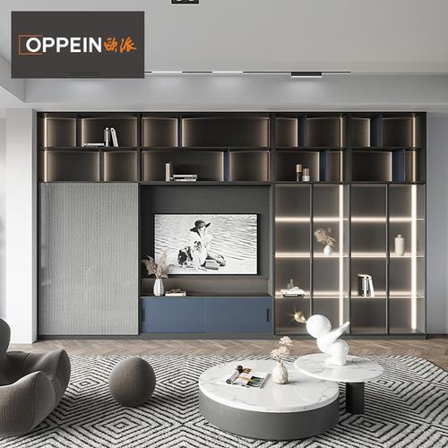 【新品】欧派电视墙柜定制阿尔卑全屋定制餐边柜客厅书房一体设计