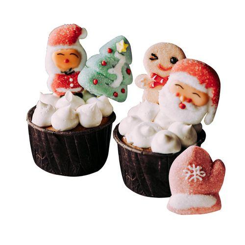 圣诞节蛋糕装饰小插件品摆件插牌网红烘焙纸杯杯子圣诞老人配件
