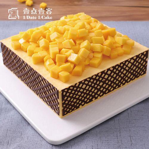 壹点壹客一点一刻芒果慕斯千层水果方形生日蛋糕深圳