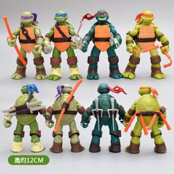 关节可动 忍者神龟tmnt公仔忍者龟儿童玩具摆件模型礼物抖音新品 动画