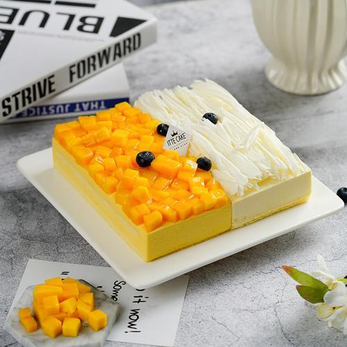 【榴芒双拼慕斯】榴莲芒果组合慕斯生日蛋糕