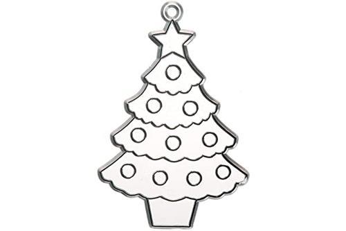 darice 批量购买 diy 儿童吊饰圣诞树 4 英寸(12 件装