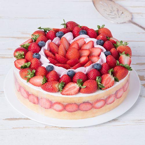 【会员低至138元】女神最爱的草莓奶油蛋糕 香颂(上海)