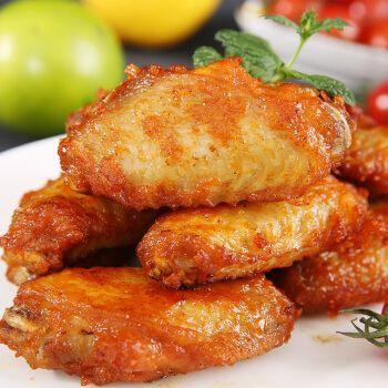新鲜奥尔良鸡翅半成品鸡中翅生鲜香辣腌制烤翅2斤