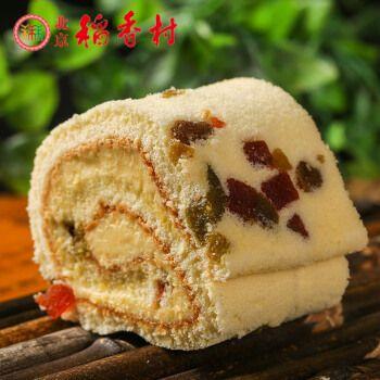 三禾稻香村水果卷2块蛋糕糕点点心特产散装
