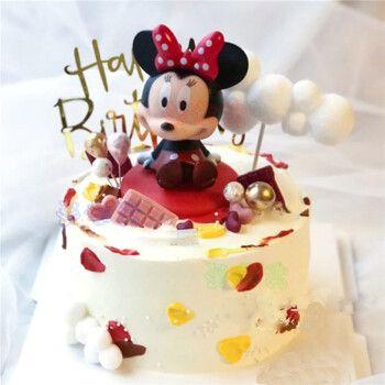 网红ins网红米老鼠生日蛋糕迪士尼米奇米妮唐老鸭儿童