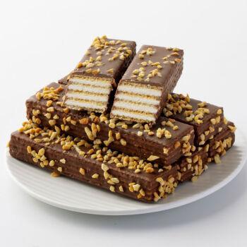 玛芙巧克力花生碎坚果夹心威化饼干网红零食儿童小吃谷力量威化办公室