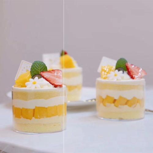 大圆杯慕斯杯水果蛋糕西点塑料一次性冰淇淋布丁果冻