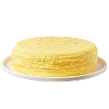 鲜惠源 榴莲千层蛋糕 500克/个/6寸 苏丹王榴莲果肉冷冻蛋糕生日蛋糕