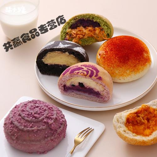 酥小糖软欧包面包网红好吃的蛋糕糕点零食咸蛋黄早餐芋泥奶酪 【人气