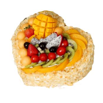 预定网红儿童创意生日蛋糕当日送达祝寿心形水果蛋糕鲜花速递订做