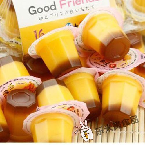 台湾进口 新巧风牌鸡蛋味冰淇淋味芒果味果冻布丁 休闲食品166g