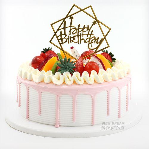 水果蛋糕模型2020新款网红仿真流行创意生日假蛋糕