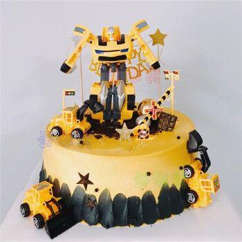 网红变形金刚生日蛋糕创意儿童男孩擎天柱大黄蜂巨无霸霸天虎生日蛋糕
