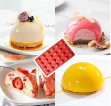 硅胶半圆形手工模具蛋糕布丁慕斯流心馅烘焙网红巧克力山楂球模具