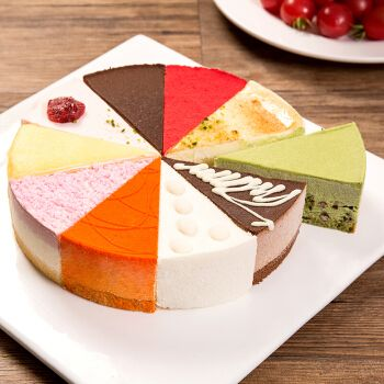 8英寸慕斯蛋糕提拉米苏新鲜芝士生日蛋糕午后甜品下午茶 芒果慕斯口味