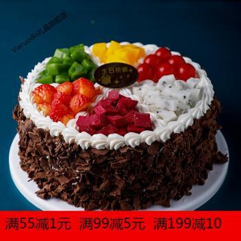 蛋糕模型仿真2021新款网红欧式水果生日假蛋糕塑胶橱窗样品可定制 t